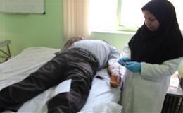 خون گیری از مراجعیین مرکز خدمات جامع سلامت اسدیه